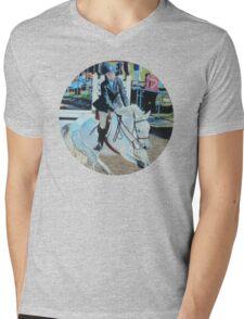 Horseshow T-Shirt or Hoodie Mens V-Neck T-Shirt