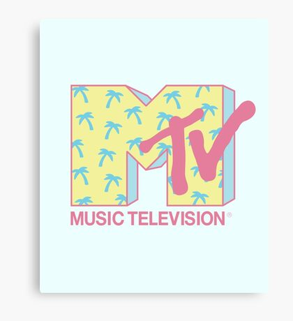Summer MTV Canvas Print