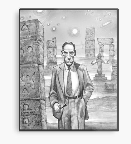 HP Lovecraft - Explorer of Strange Worlds Metal Print