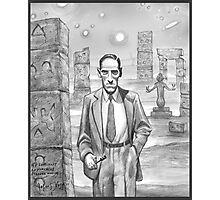 HP Lovecraft - Explorer of Strange Worlds Photographic Print