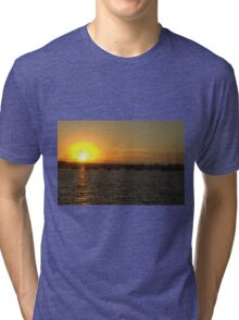 Sunset on the Water Tri-blend T-Shirt