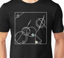 Abstract #11 - white with frame Unisex T-Shirt