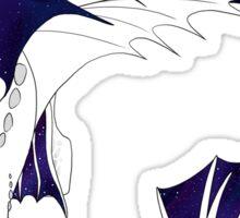 Galaxy Nightfury - White Sticker