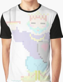 8-Bit King of Hearts  Graphic T-Shirt