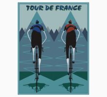 TOUR DE FRANCE; Bicycle Racing Advertising Print One Piece - Long Sleeve
