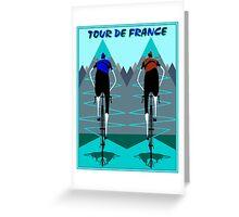 TOUR DE FRANCE; Bicycle Racing Advertising Print Greeting Card