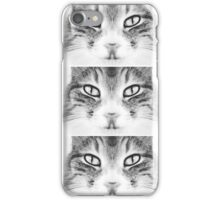 Grey cat iPhone Case/Skin