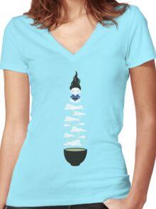 Zen tea II Women's Fitted V-Neck T-Shirt