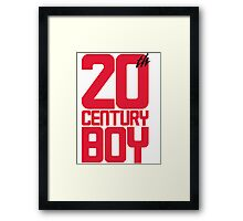 20th Century Boy Framed Print