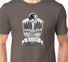 Run Forever - Moon Emblem  Unisex T-Shirt
