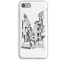 City Street Pencil Sketch iPhone Case/Skin