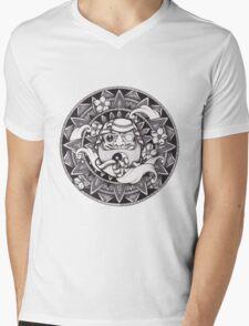 Daruma Mandala Mens V-Neck T-Shirt