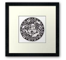 Daruma Mandala Framed Print
