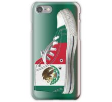 Hi Top Mexico Basketball Shoe Flag iPhone Case/Skin