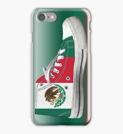 Hi Top Mexico Basketball Shoe Flag iPhone Case/Skin