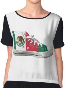 Hi Top Mexico Basketball Shoe Flag Chiffon Top