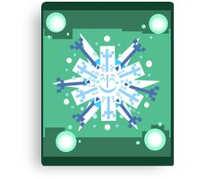 Snowflake Sunburst Canvas Print