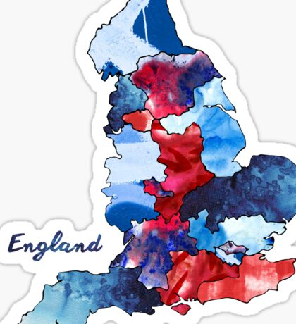 Watercolor Countries - England Sticker