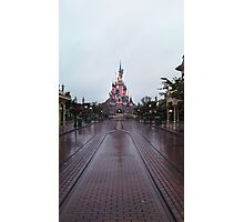 Sleeping Beauty Castle- Alone Photographic Print