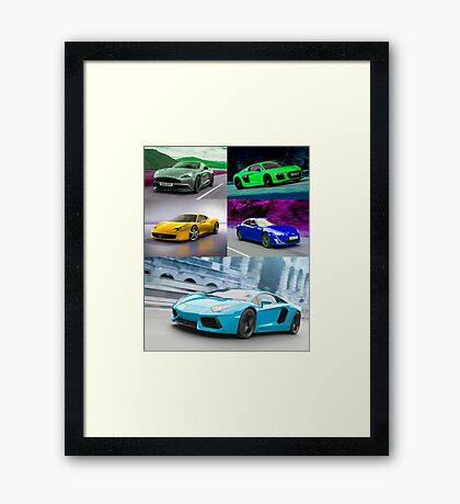 sports cars Framed Print