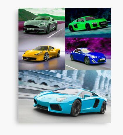 sports cars Canvas Print