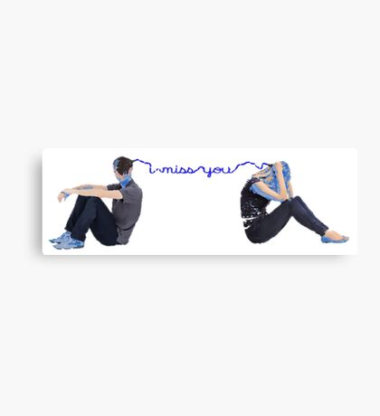 Feeling Blue - Missing You Canvas Print