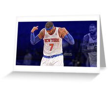 Carmelo Anthony - Three For The City Greeting Card