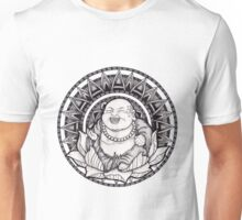 Happy Buddha Mandala Unisex T-Shirt