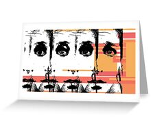 Scaffold Faces Greeting Card