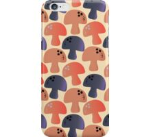 Champignon Mushrooms (Champignons) - Blue Red iPhone Case/Skin