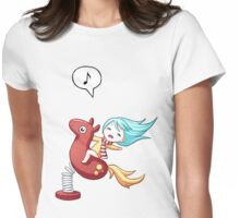 Pony Ride Womens Fitted T-Shirt