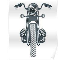 Hand Drawn Retro Motorbike Illustration Poster