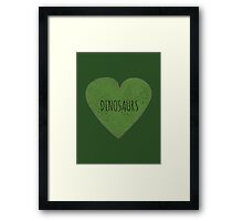 Dinosaur Love Framed Print