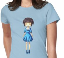 Girl in Blue Womens Fitted T-Shirt