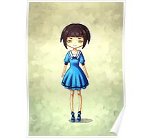 Girl in Blue Poster