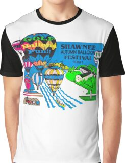 Psychedelic Hot Air  Graphic T-Shirt