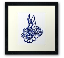flame on Framed Print