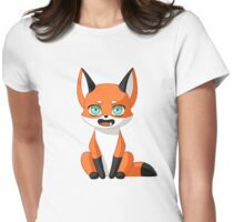 Fox Cub Womens Fitted T-Shirt