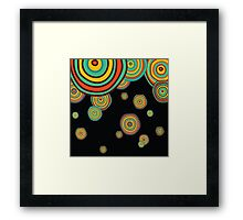 Dark pattern with hand drawn circles Framed Print