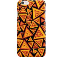 Ethnic style pattern with hand drawn triangles iPhone Case/Skin