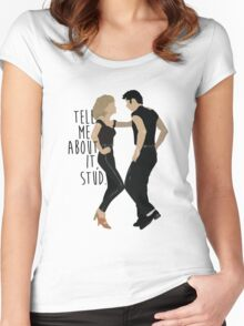 Grease - Tell Me About it Stud Women's Fitted Scoop T-Shirt