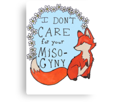 Feminist Fox Canvas Print