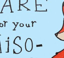 Feminist Fox Sticker