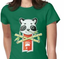 Panda Banner Womens Fitted T-Shirt