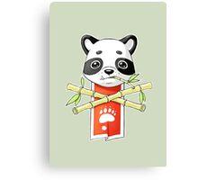 Panda Banner Canvas Print