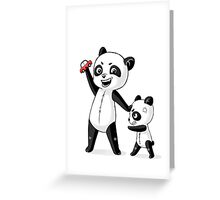 Panda Brothers Greeting Card