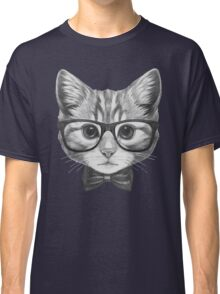 Cat with glasses and bow tie Classic T-Shirt