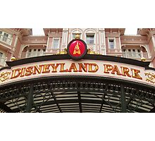 Disneyland Paris- Welcome Photographic Print