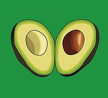 Avocado Heart by LaurArt