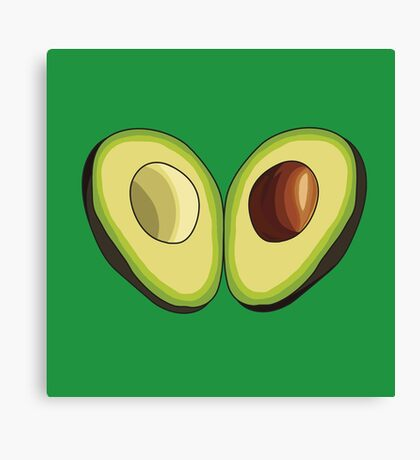Avocado Heart Canvas Print